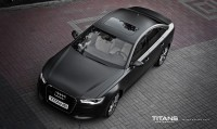 Audi A6 zmiana koloru auta : Matt diamond black metallic