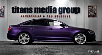 Audi A6 matt midnight purple metallic