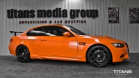 BMW M3 zmiana folią: Gloss Bright Orange