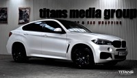 BMW X6 zmiana folią: Matt Diamond White Metallic