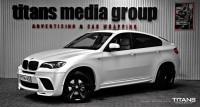 BMW X6 zmiana koloru auta : Matt Diamond White Metallic