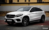 Mercedes GLE zmiana folią: Matt Diamond White Metallic