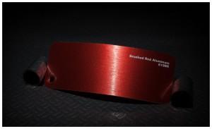 folia zmiana koloru auta brushed red aluminium