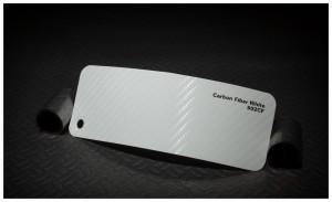 folia zmiana koloru auta carbon fiber white