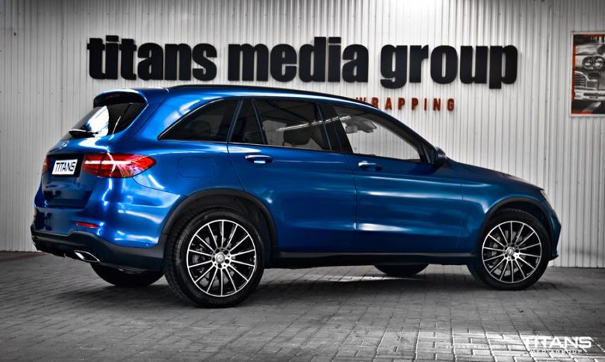 Mercedes GLC zmiana koloru folia daytona blue arlon car wrap
